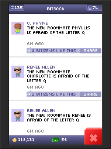 Gossip is rampant in Tiny Tower.